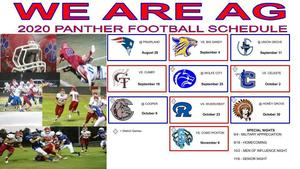 2020 Panther Football Schedule