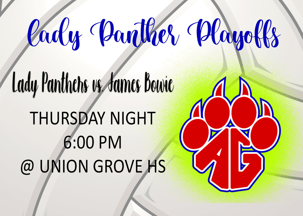 Lady Panther Playoff Info.